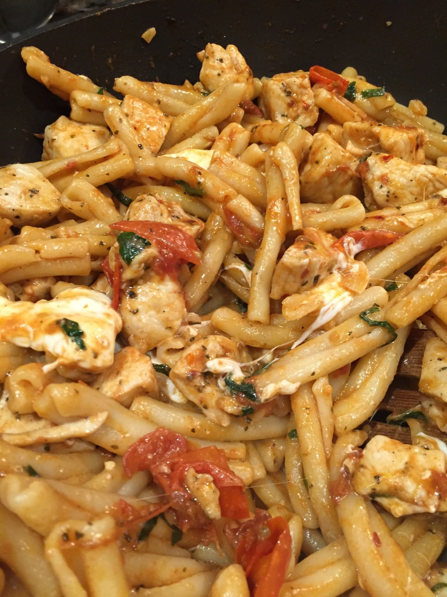 Chicken Caprese Casarecce Pasta